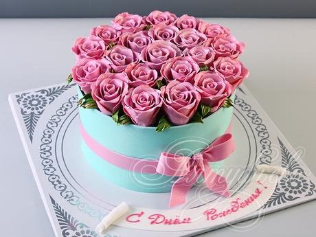 Оформление торта для мамы фото и картинки 023
