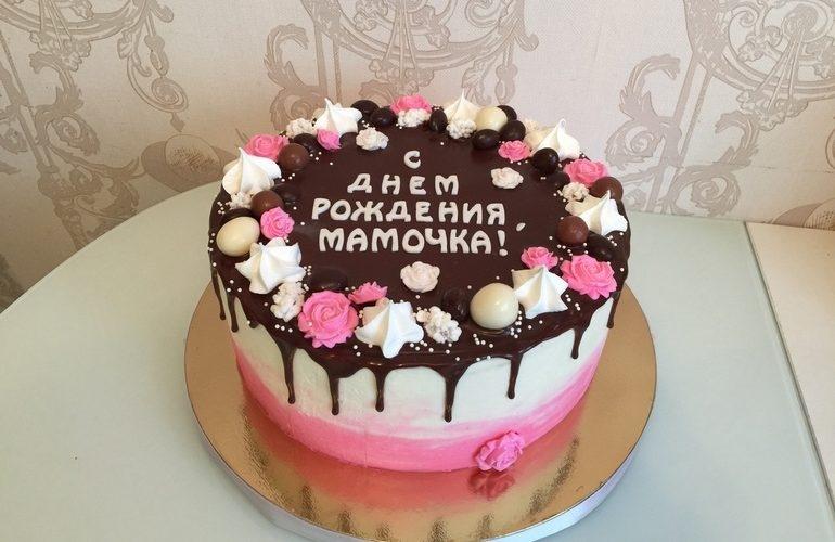 Оформление торта для мамы фото и картинки 024