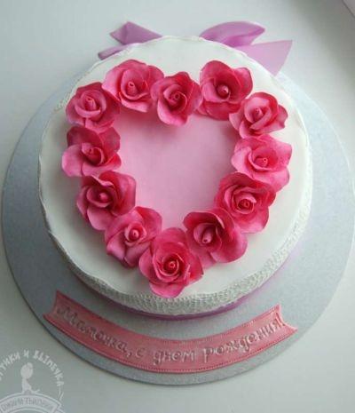 Оформление торта для мамы фото и картинки 026