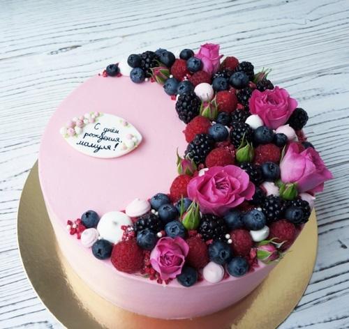 Оформление торта для мамы фото и картинки 027