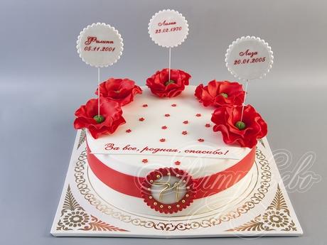 Оформление торта для мамы фото и картинки 028