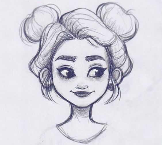 Очень легкие картинки для срисовки для подростков010