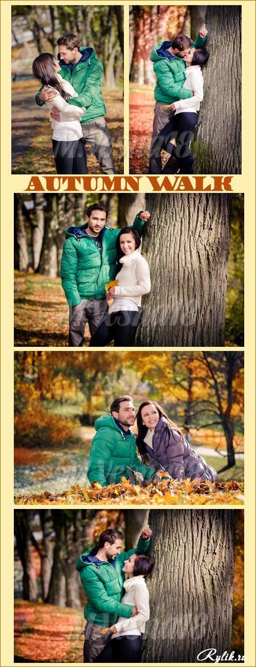 Пара в осеннем парке   красивые фото 008