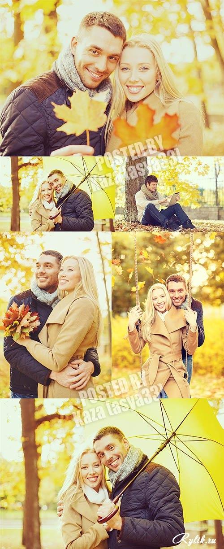 Пара в осеннем парке   красивые фото 021