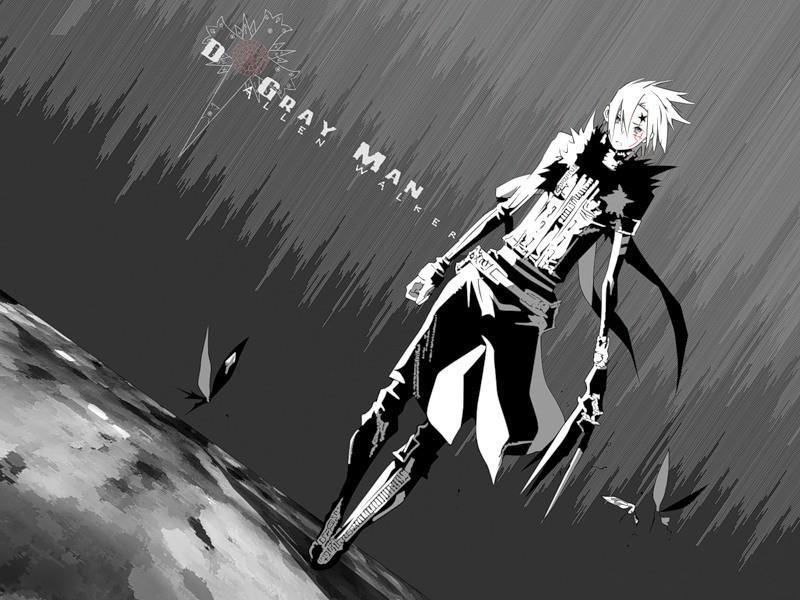 Парень и девушка аниме черно белые арты (32)