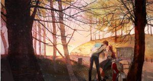Парень и девушка осенью   красивые фото 021