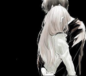 Парни и девушки любовь аниме   картинки 021