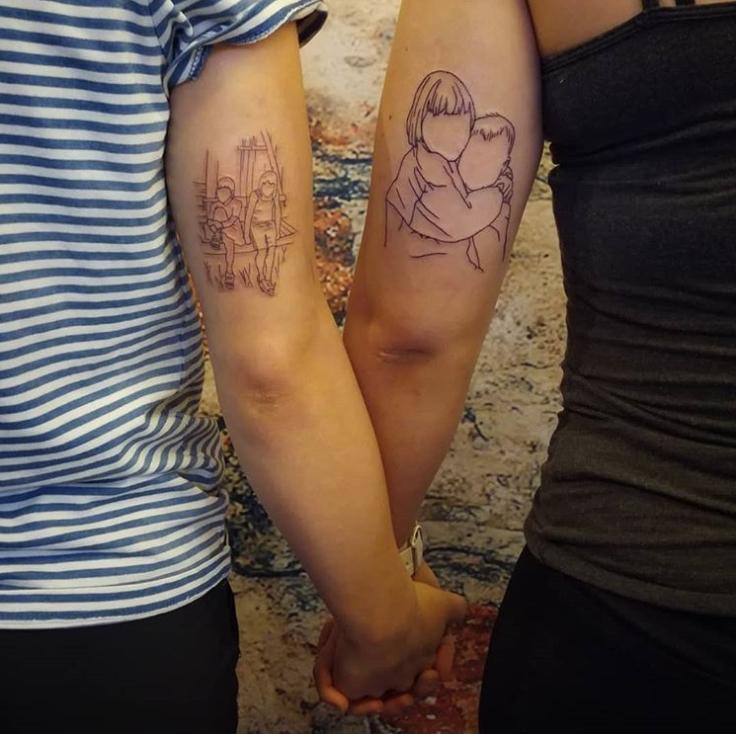 Парные татуировки для сестры и брата   подборка001