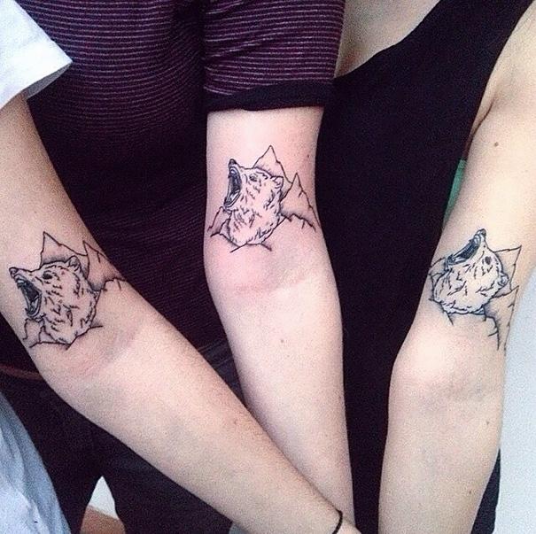 Парные татуировки для сестры и брата   подборка004