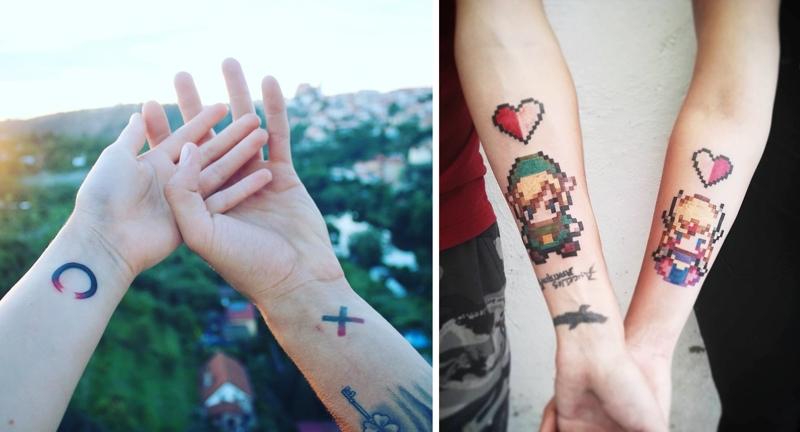 Парные татуировки для сестры и брата   подборка009