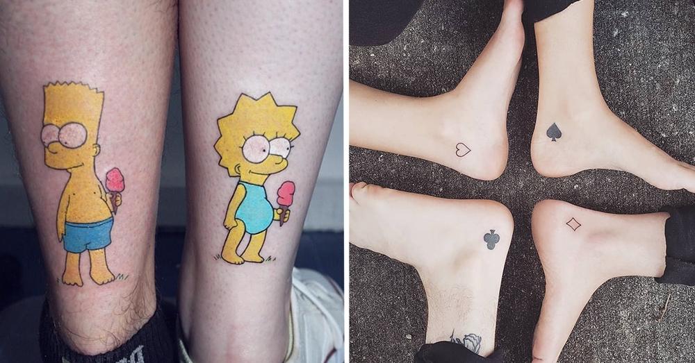Парные татуировки для сестры и брата   подборка013