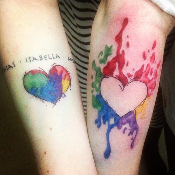 Парные татуировки для сестры и брата   подборка014