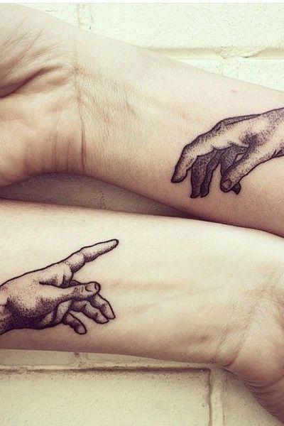 Парные татуировки для сестры и брата   подборка015