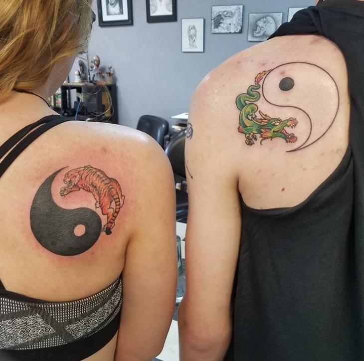 Парные татуировки для сестры и брата   подборка018