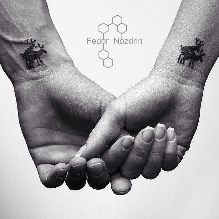 Парные татуировки для сестры и брата   подборка021