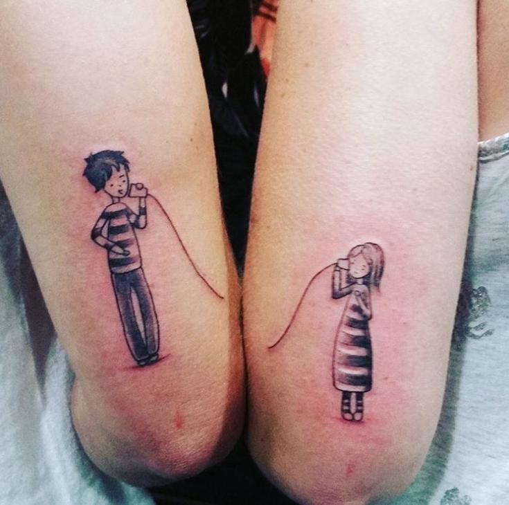 Парные татуировки для сестры и брата   подборка023