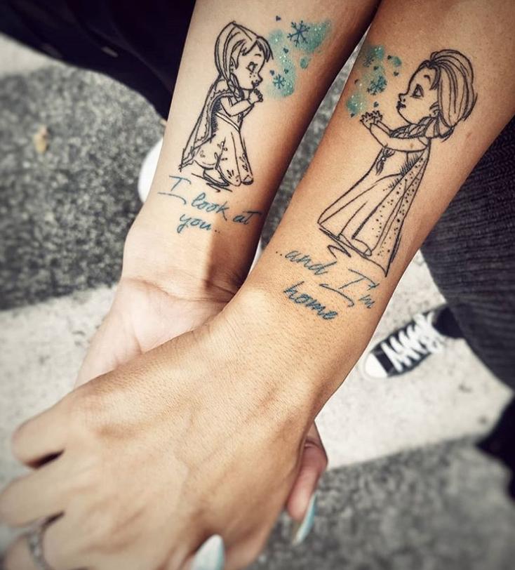Парные татуировки для сестры и брата   подборка024