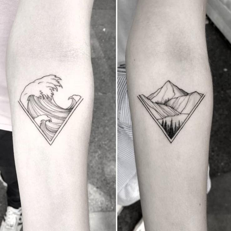 Парные татуировки для сестры и брата   подборка027