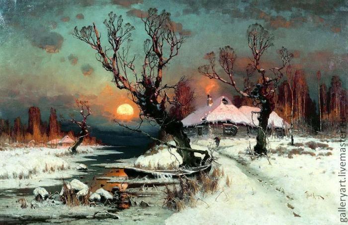 Пейзажи зимы картины и фото 002