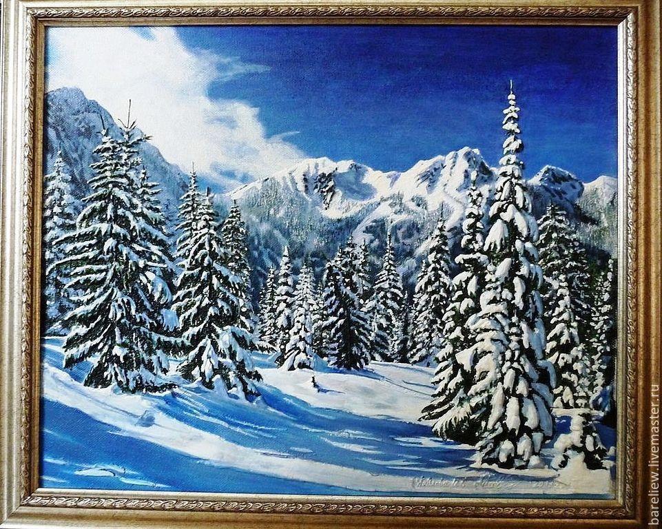 Пейзажи зимы картины и фото 004