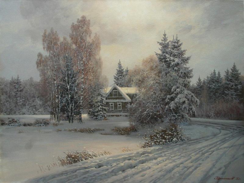 Пейзажи зимы картины и фото 007