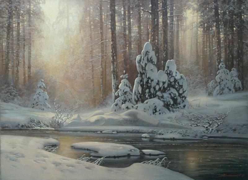 Пейзажи зимы картины и фото 011