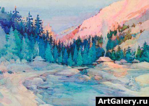 Пейзажи зимы картины и фото 012