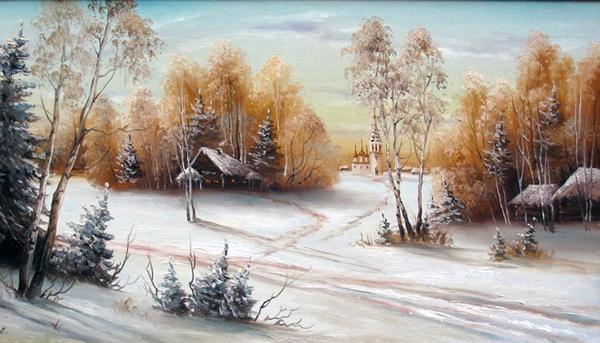 Пейзажи зимы картины и фото 013