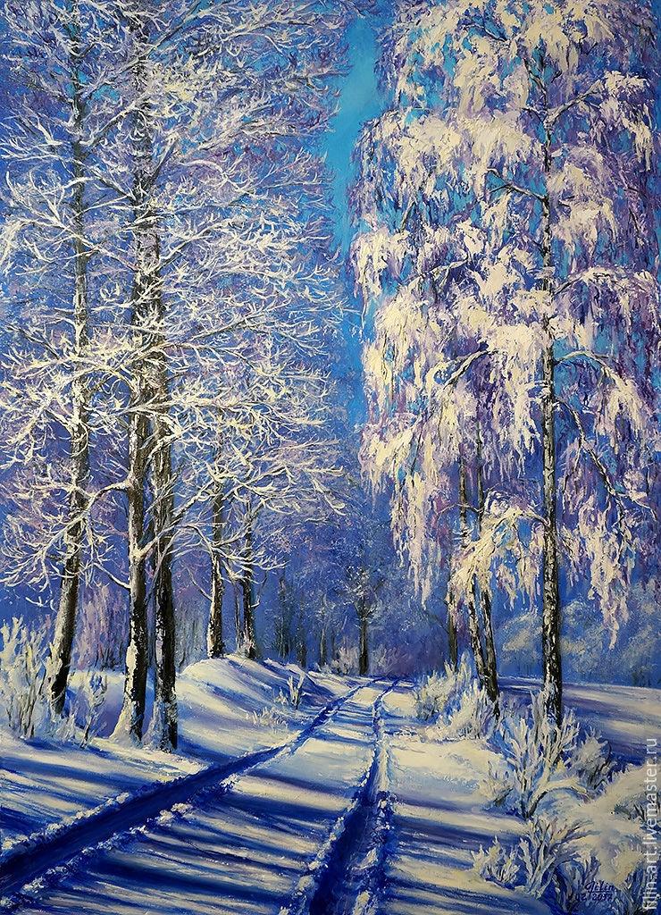 Пейзажи зимы картины и фото 018