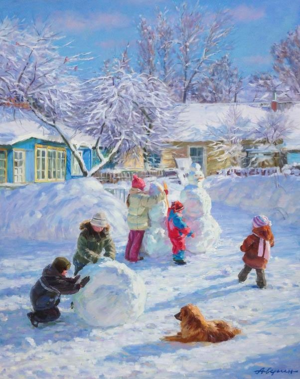 Пейзажи зимы картины и фото 019