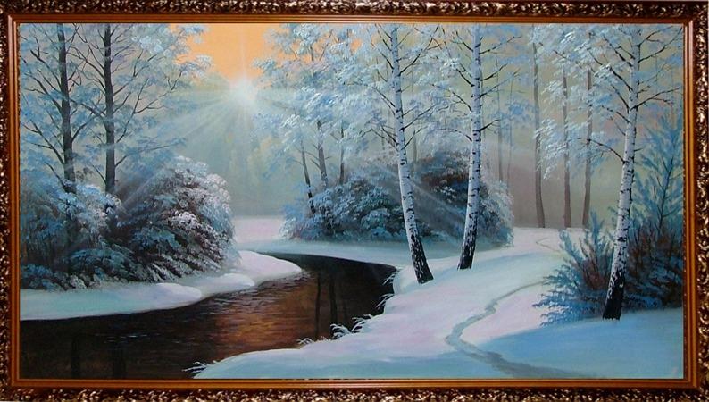 Пейзажи зимы картины и фото 021