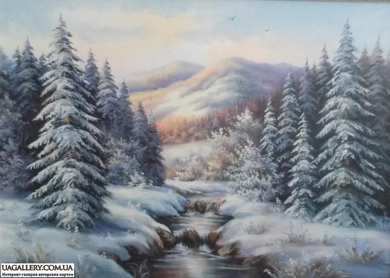 Пейзажи зимы картины и фото 023