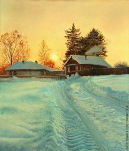 Пейзажи зимы картины и фото 024