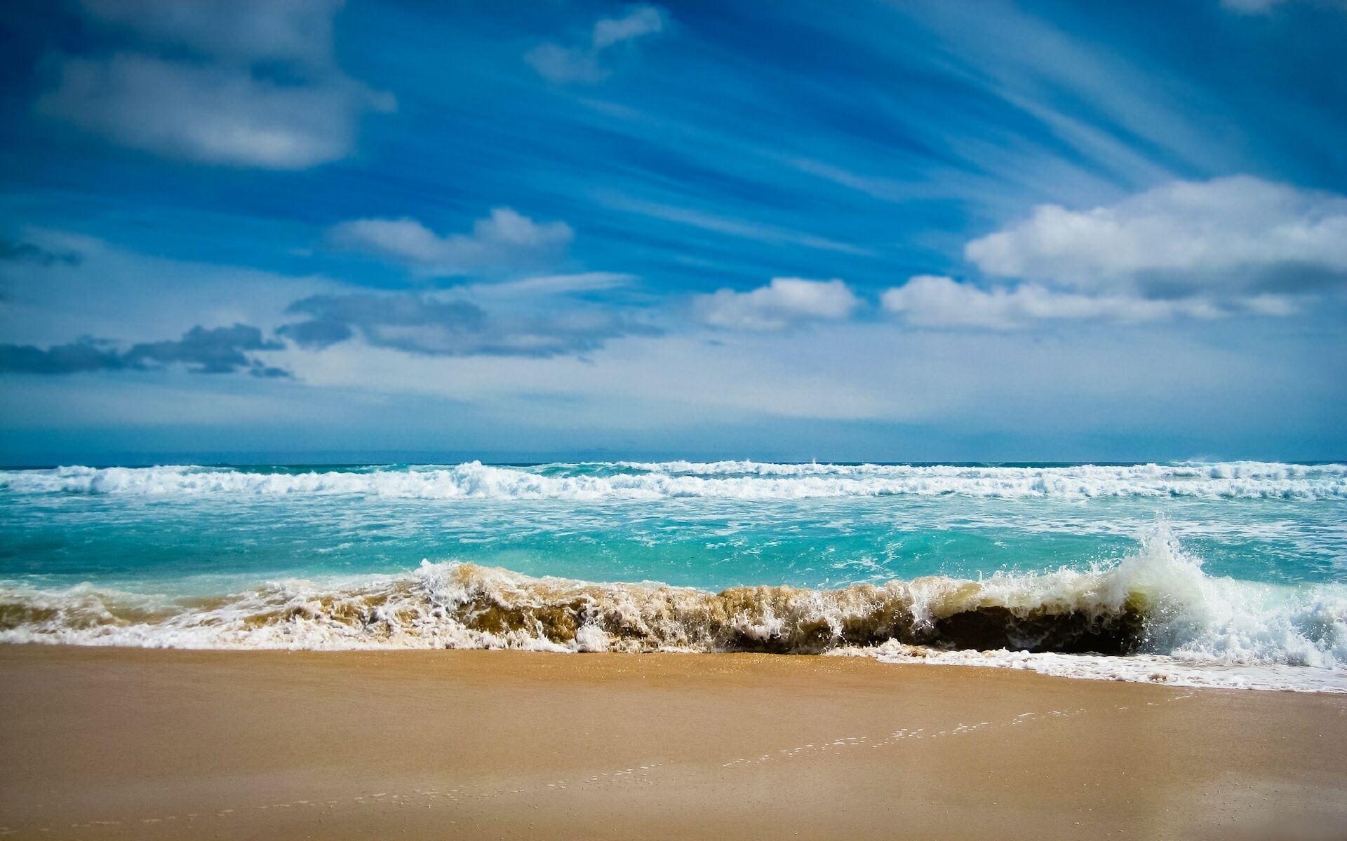 Песок и море фон для рабочего стола (23)