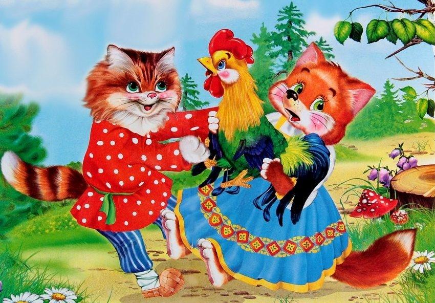 Петух из сказки Кот и Петух картинки 002