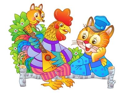 Петух из сказки Кот и Петух картинки 010