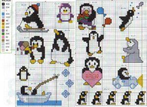 Пингвин вышивка   красивые картинки027