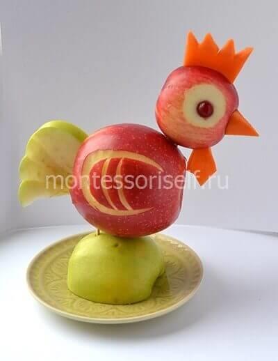Поделка сова из овощей фото 005