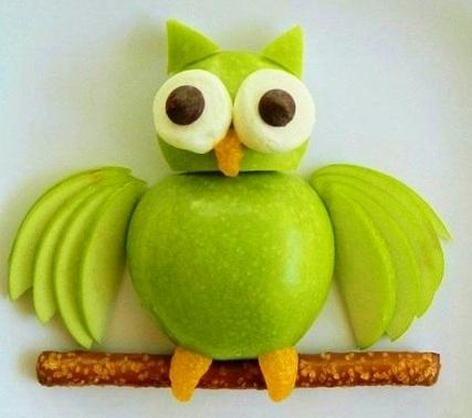 Поделка сова из овощей фото 021