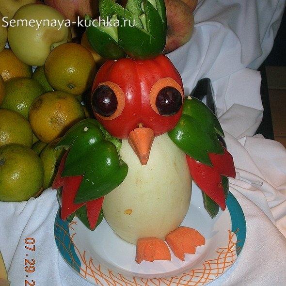 Поделка сова из овощей фото 025