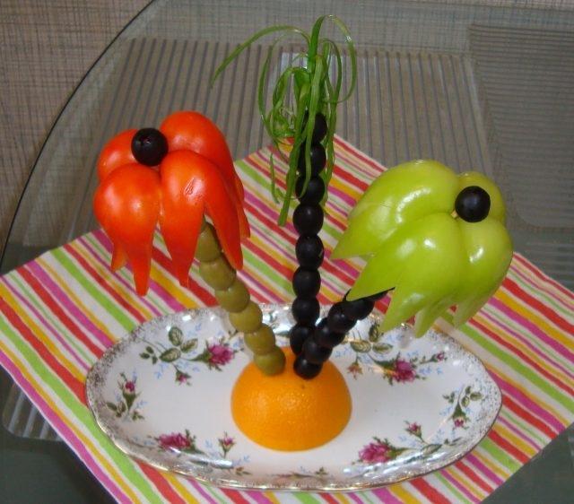 Поделки из овощей сова   фото006