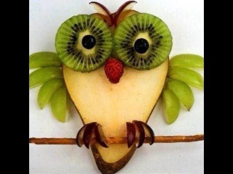 Поделки из овощей сова   фото008
