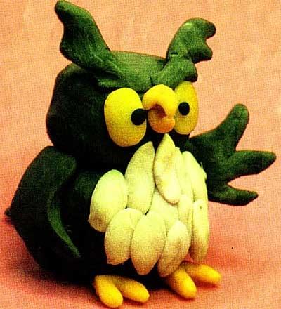 Поделки из овощей сова   фото009