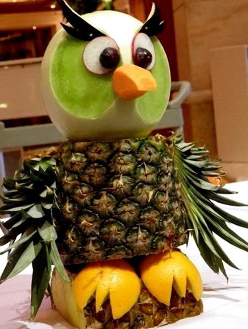 Поделки из овощей сова   фото024