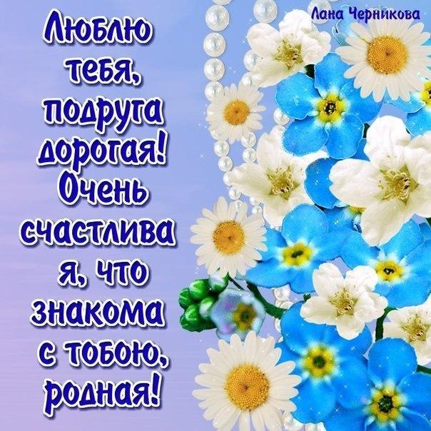 Я люблю тебя подруга открытки, картинки цветы