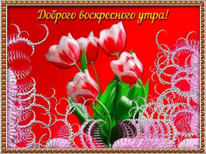 Пожелания с добрым воскресным утром в открытках004