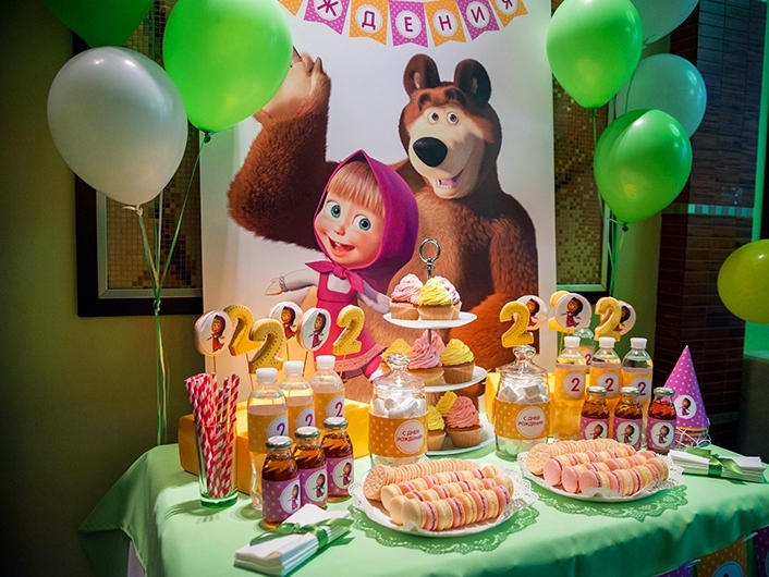 Поздравление маша и медведь с Днем Рождения   открытки (18)