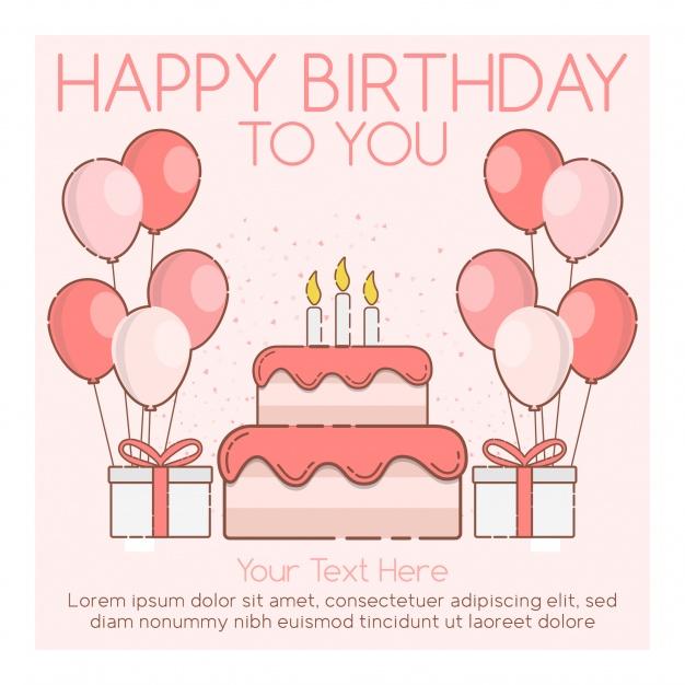 Поздравление с Днем Рождения фон для открытки (47)