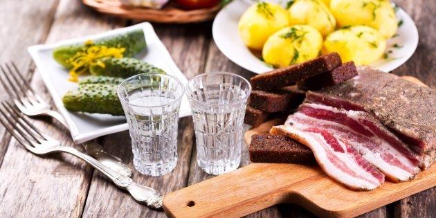 Прикольные картинки закуска и выпивка 003