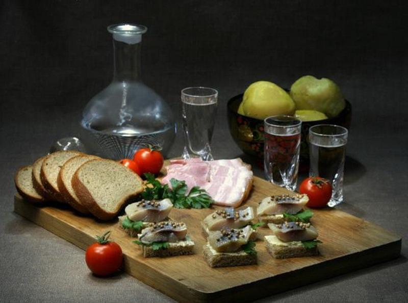 Прикольные картинки закуска и выпивка 022